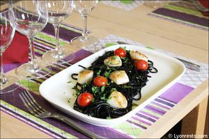 02 plat saint jacques pates restaurant italien sapori e colori lyon Sapori e Colori