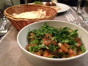 001 Sept Epices Restaurant Lyon Guillotiere Libanais taboule entree selection Sept Épices