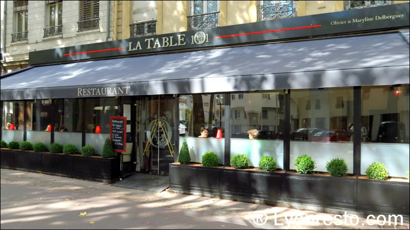 Le restaurant La Table 101 à 69003 Lyon recommandé