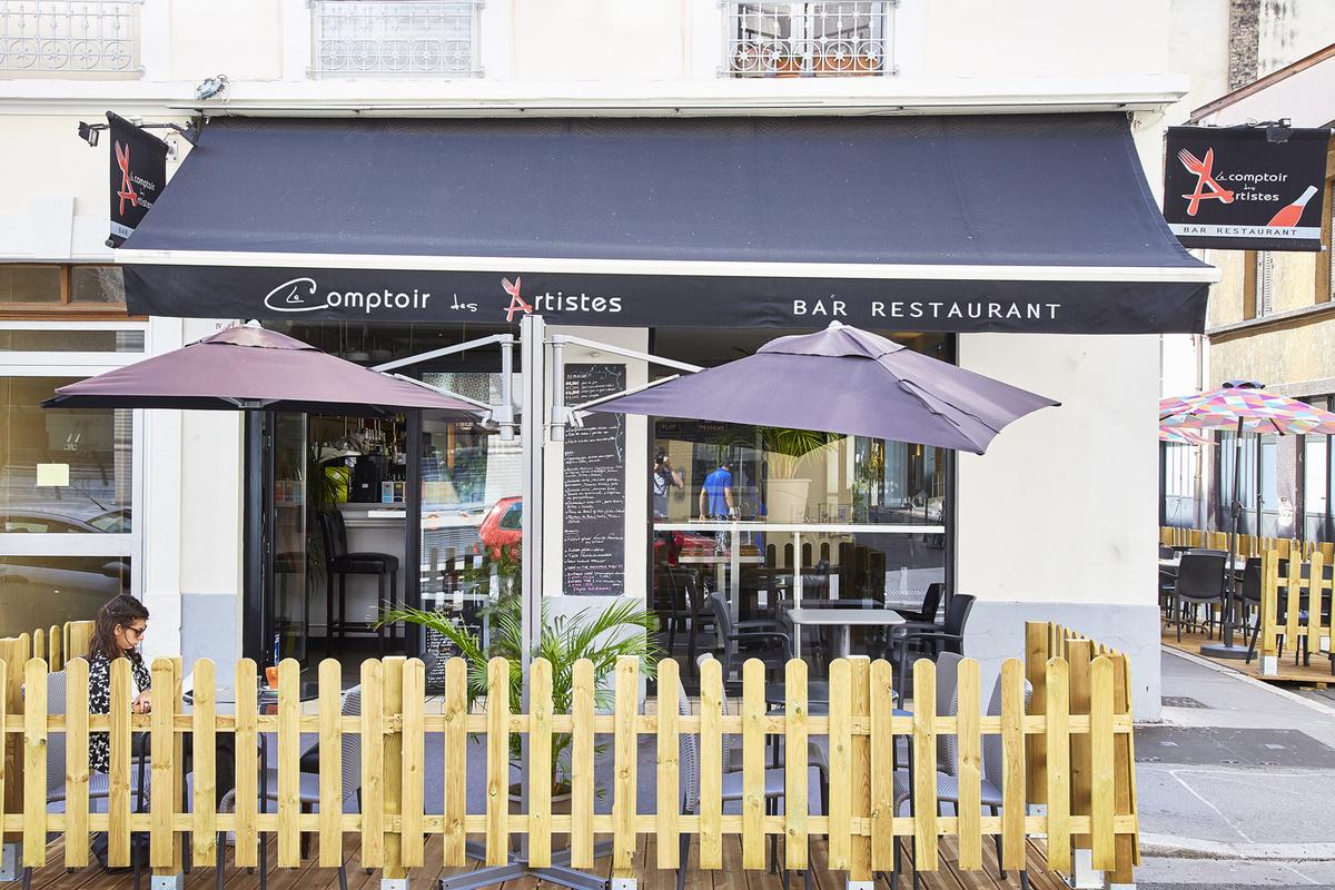 Le comptoir des artistes restaurant lyon menu vid o for Le comptoir du meuble bruxelles