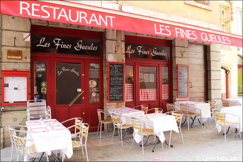 Les fines gueules restaurant lyon r server horaires for Restaurant exterieur
