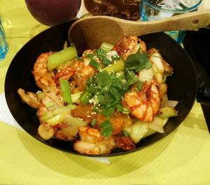 Carnet gourmand wok crevettes pimente Carnet gourmand