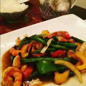 Chee is thai salade crevettes legumes Chee is Thaï