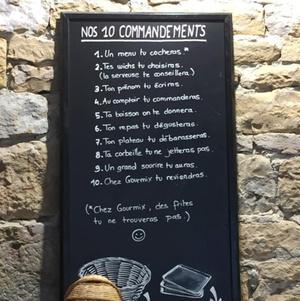 Gourmix commandements Gourmix