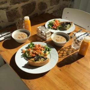 Kaova cafe dejeuner quiche legumes soupe Kaova café