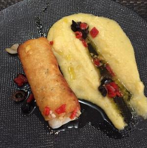 L Inattendu Cabillaud craquelin thym parmesan polenta L'Inattendu