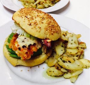 Le comptoir des fees burger poulet pané Le comptoir des fées