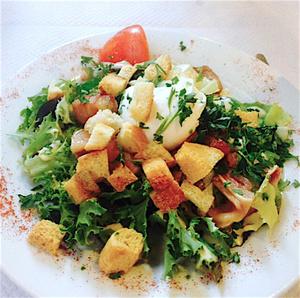 Les Paves de St jean salade lyonnaise Les Pavés de St jean