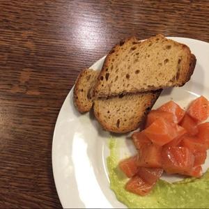 Sauf Imprevu saumon gravlax guacamole Sauf Imprévu