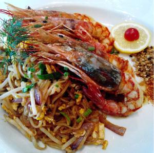 Thai demoiselle nouilles thai crevettes Thaï demoiselle