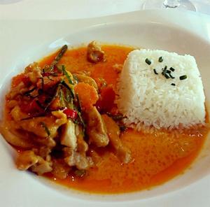 Thai demoiselle poulet curry Thaï demoiselle