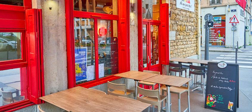 Terrasse du restaurant Ah non peut-être à Lyon