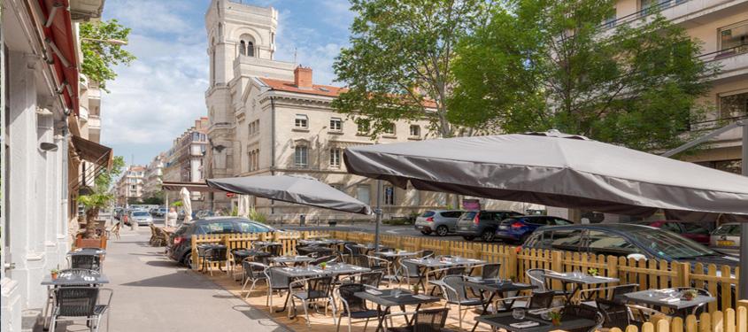 Terrasse du restaurant Arsenic à Lyon