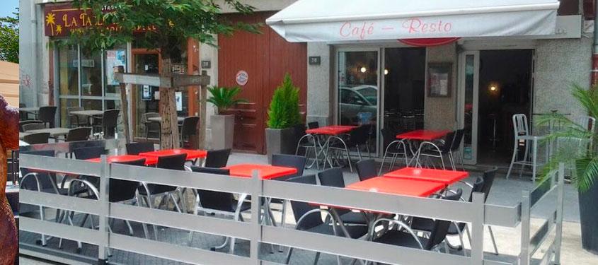 Terrasse du restaurant Au Pti'7 à Lyon