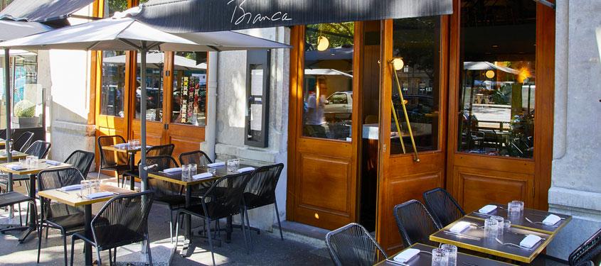 Terrasse du restaurant Bianca à Lyon