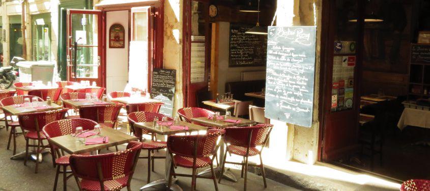Terrasse du restaurant Bistro Pizay à Lyon