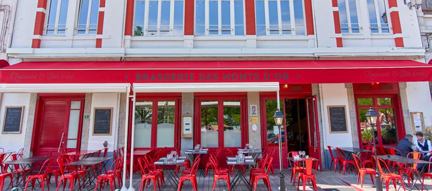 Terrasse du restaurant Brasserie des Monts d'Or à Saint-Cyr-au-Mont-d'Or