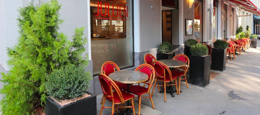 Terrasse du restaurant Brasserie Jullien à Lyon