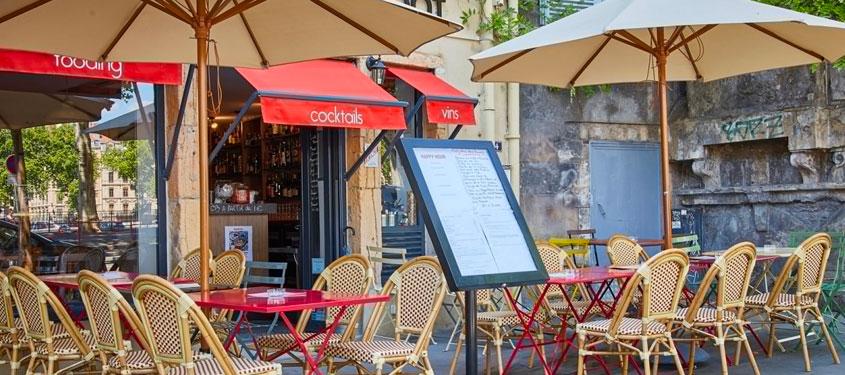 Terrasse du restaurant Café Dupont à Lyon