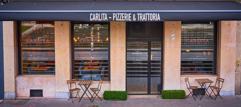 Terrasse du restaurant Carlita à Lyon