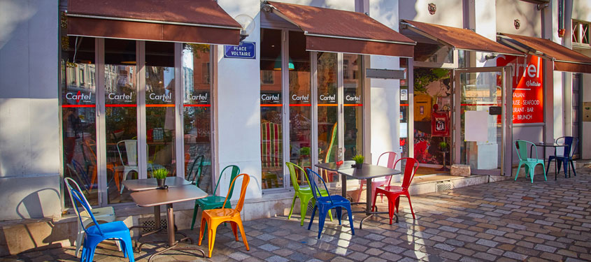 Terrasse du restaurant Cartel Voltaire à Lyon