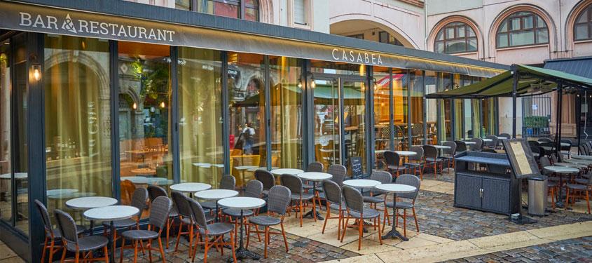 Terrasse du restaurant Casabea à Lyon