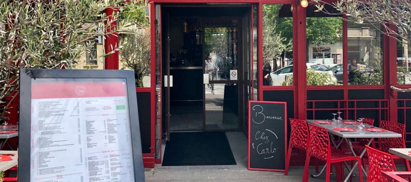Terrasse du restaurant Chez Carlo Gerland à Lyon