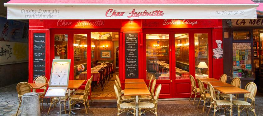 Terrasse du restaurant Chez louloutte à Lyon