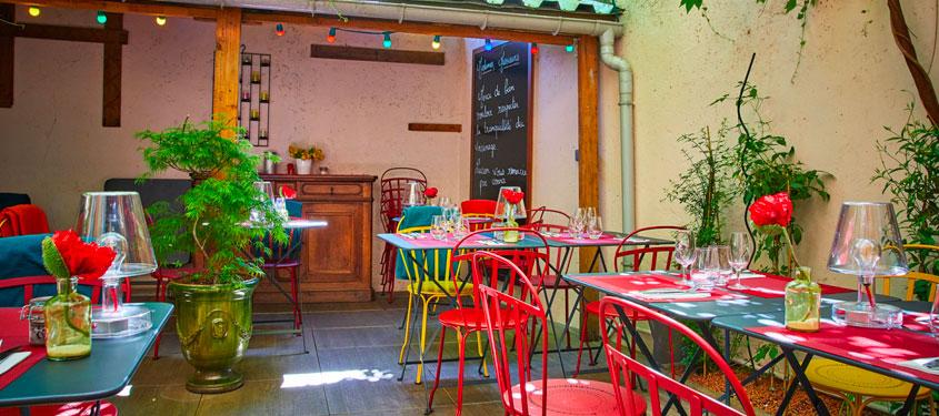Terrasse du restaurant Chez Lucien à Lyon