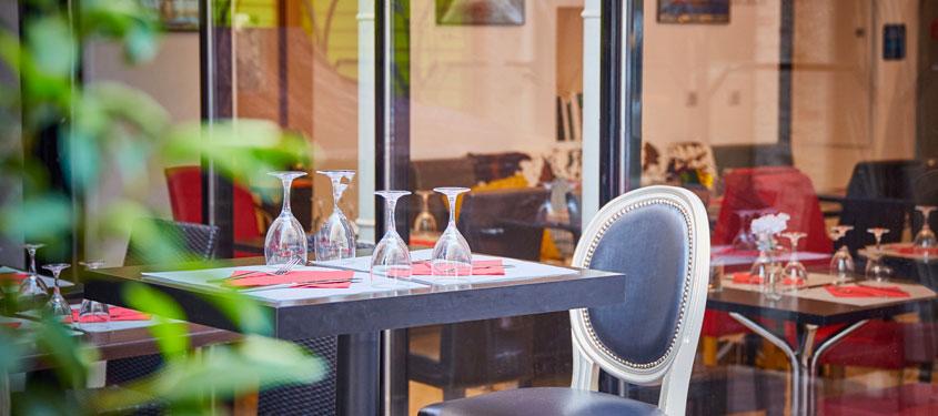 Terrasse du restaurant Er Baretto à Lyon