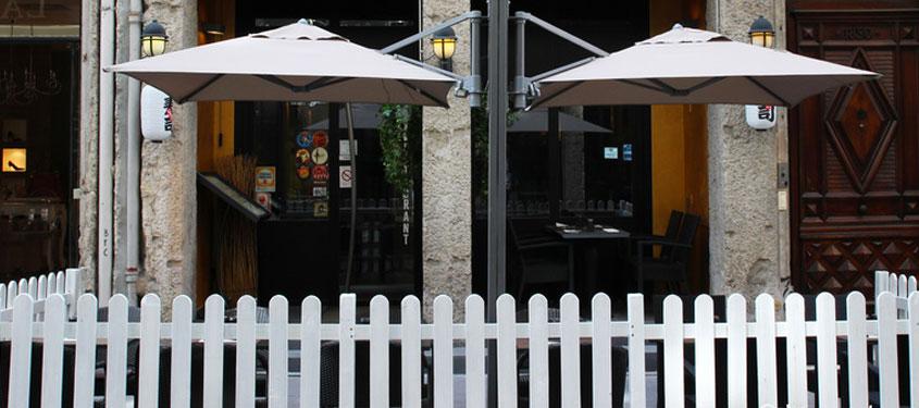Terrasse du restaurant Gang Nam à Lyon