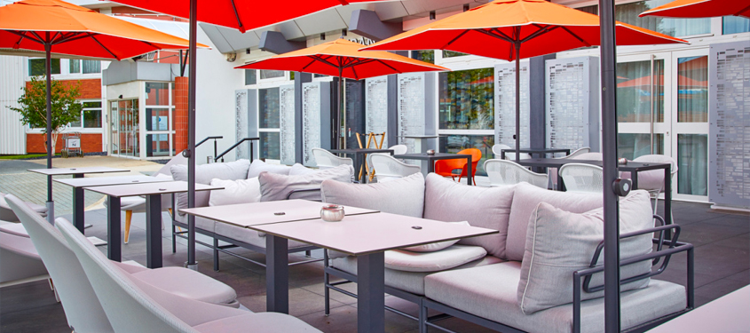 Terrasse du restaurant Gourmet Bron Restaurant & Bar à Bron