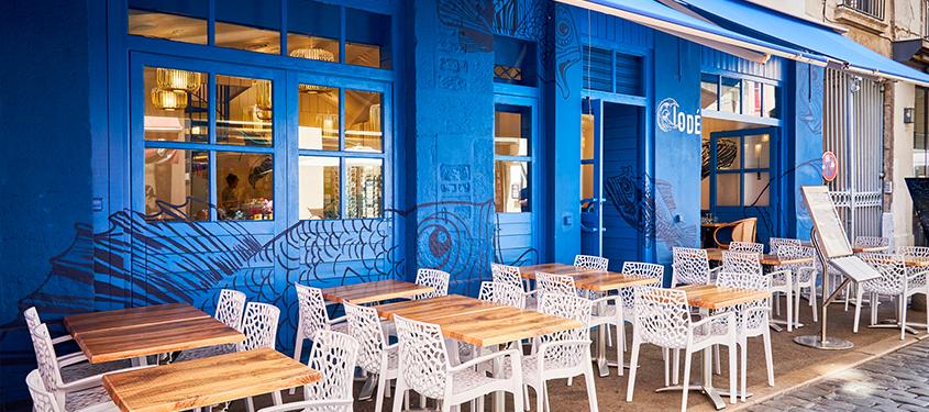 Terrasse du restaurant Iodé à Lyon