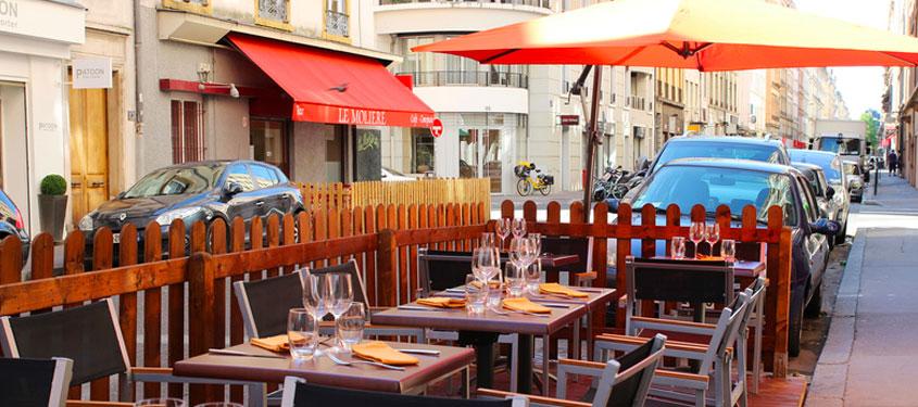 Terrasse du restaurant Jour de Marché à Lyon