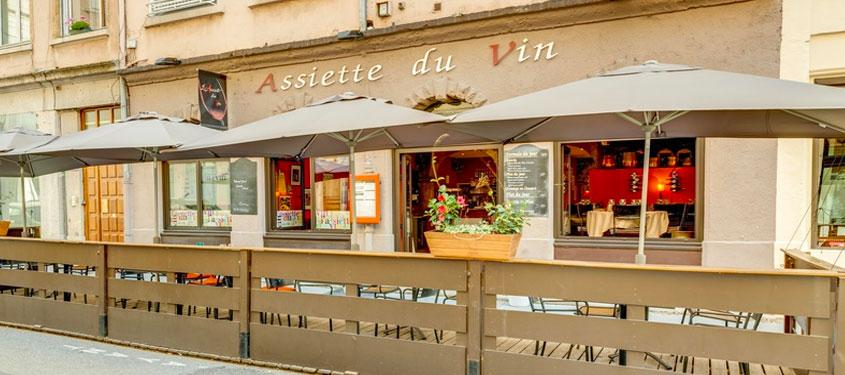 Terrasse du restaurant L'Assiette du Vin à Lyon