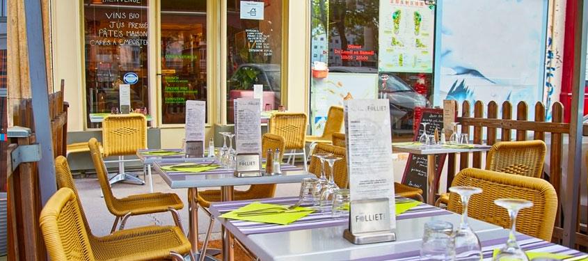 Terrasse du restaurant L'équilibre à Lyon