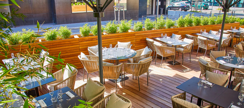 Terrasse du restaurant L'Octave à Lyon