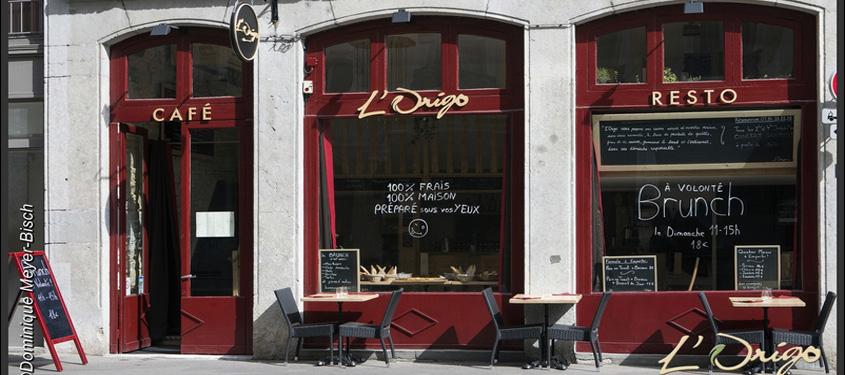 Terrasse du restaurant L'Origo à Lyon