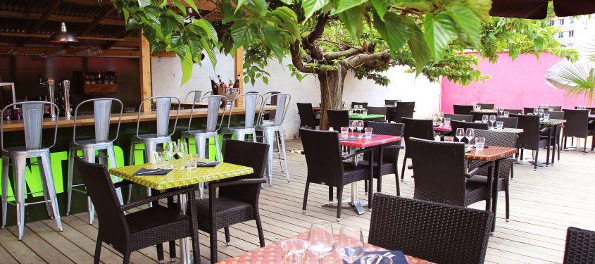 La cambuse arlette for Restaurant terrasse lyon