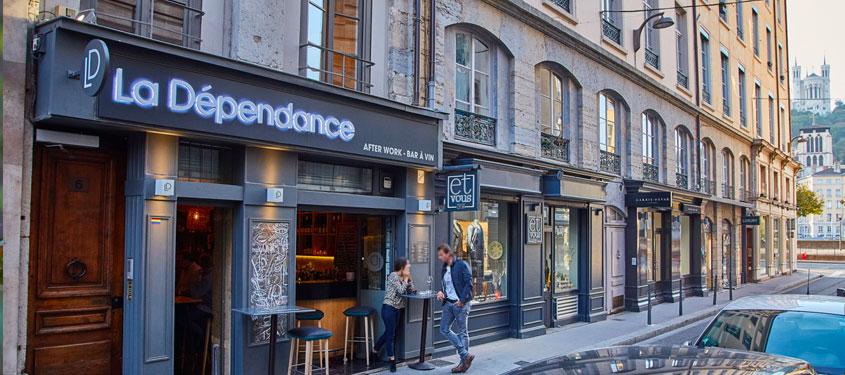 Terrasse du restaurant La Dépendance à Lyon