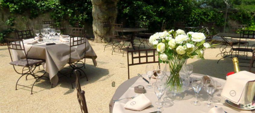 Terrasse du restaurant La Gentilhordière à Limonest