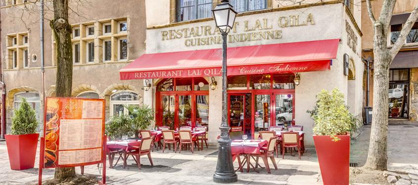 Terrasse du restaurant Lal Qila à Lyon
