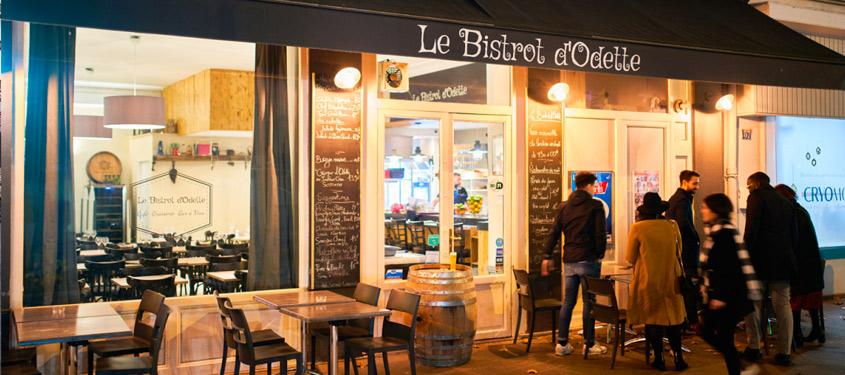 Terrasse du restaurant Le Bistrot d'Odette à Lyon