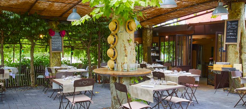 Terrasse du restaurant Le Bistrot du Jardin à Craponne
