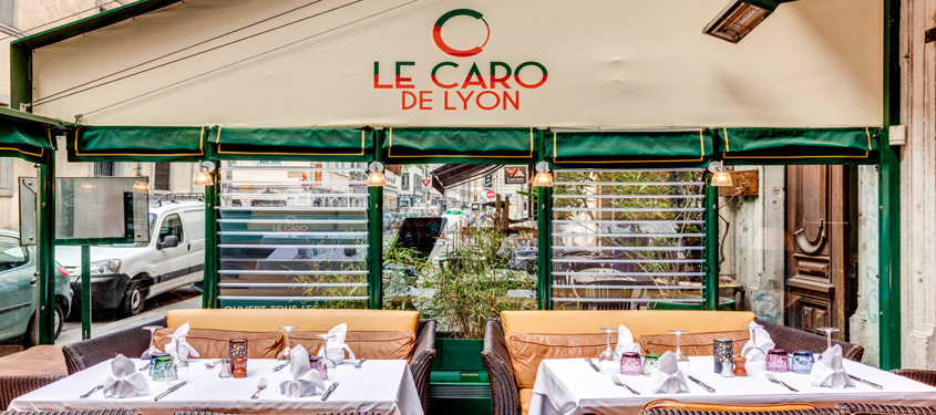 Terrasse du restaurant Le Caro de Lyon à Lyon