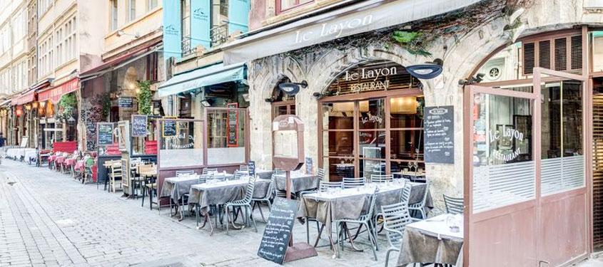 Terrasse du restaurant Le Layon à Lyon