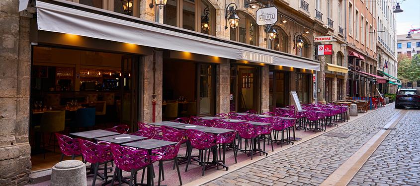 Terrasse du restaurant Le Mirtillo à Lyon