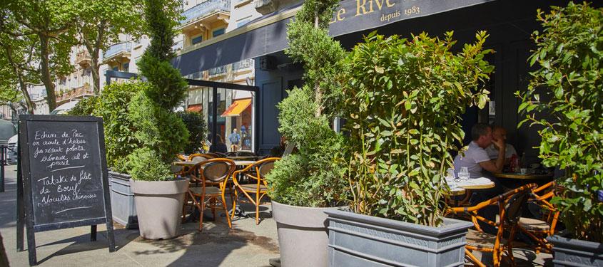 Terrasse du restaurant Le Rive Gauche à Lyon