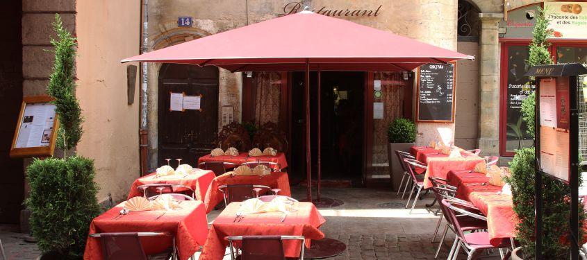 Terrasse du restaurant Le Royal Indien à Lyon