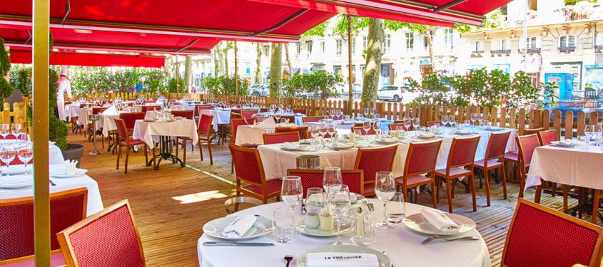 Terrasse du restaurant Le Théodore à Lyon